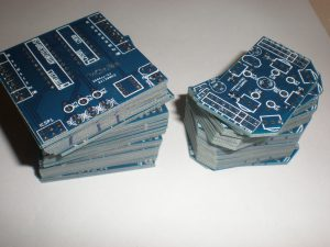 Stack of SwarmRobot PCBs